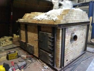 Строительство рудотермической печи на руднике Кумтор